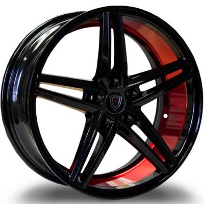 Marquee M8571 Gloss Black with Candy Red Inner Cut