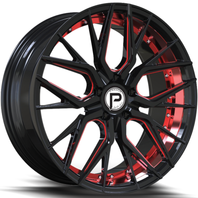 Pinnacle P312 Zenith Gloss Black with Red Inner Cut and Red Milling