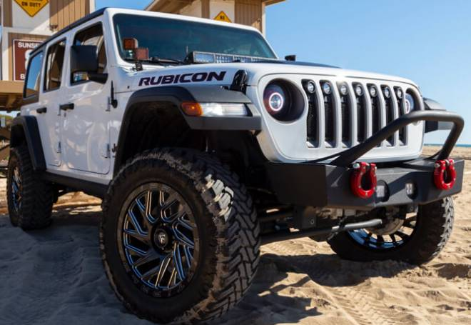 2018 Jeep Wrangler Unlimited on Fittipaldi Offroad Wheels and 35x12.5R20 Atturo Trail Blade M/T tires