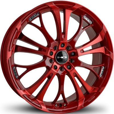 HD Spinout Red with Sonic Red Machining