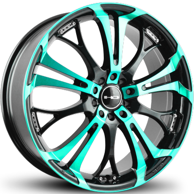 HD Spinout Teal Machined Black