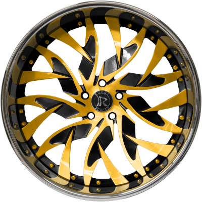 Rucci Blicky Gold and Black