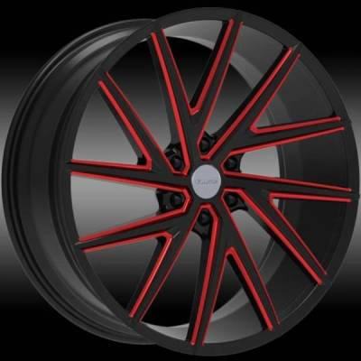 Elure 050 Black with Red Milling