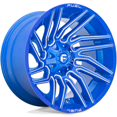 Fuel Typhoon Anodized Blue Milled